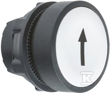 Przycisk płaski biały samopowrotny bez podświetlenia plastikowy UP