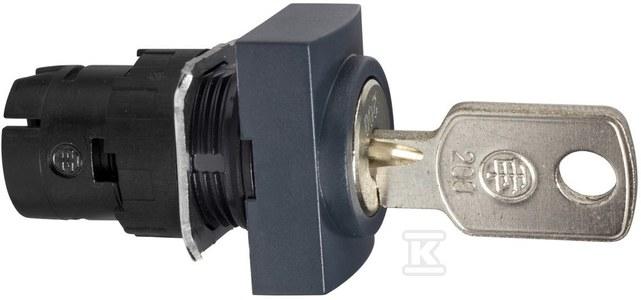 Przełącznik 2 pozycyjny czarny z prawej do środka klucz środek prostokątny