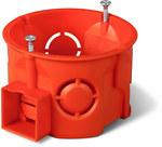 Puszka podtynkowa ONNLINE PRO PK-60F łączeniowa płytka z wkrętami, czerwona, IP 20
