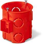 Puszka podtynkowa ONNLINE PRO PK-60F łączeniowa głęboka z wkrętami, czerwona, IP 20