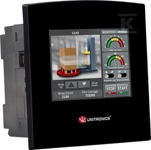 """Sterownik z LCD3,5"""" SM35-J,OPLC,3.5"""",10DI,2UNI,8RO(1HS)"""