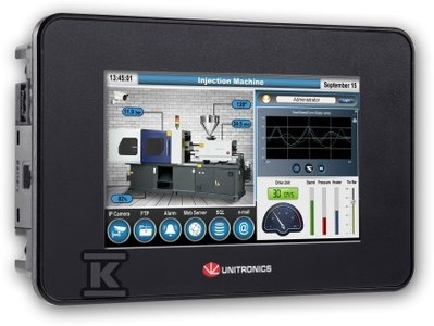 "Sterownik PLC z panelem HMI Unistream B10 5"" TR22"