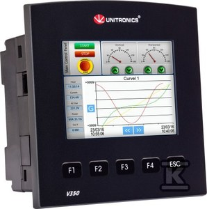 """Sterownik PLC z dotykowym panelem HMI kolor 3,5"""":10DI,2DI/AN,12TO"""