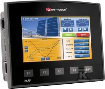 """Przemysłowy sterownik PLC z dotykowym panelem HMI PLC 4,3"""":12DI,2AN,4RO,2AO,4TO"""