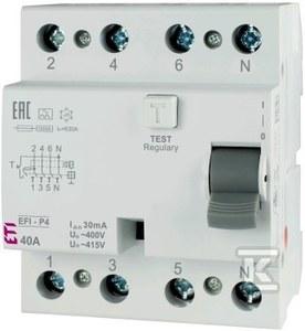 Wyłącznik różnicowoprądowy EFI-P4 AC 63/0.03