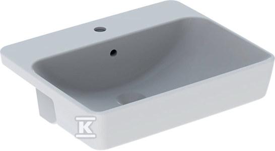 Umywalka VariForm półblatowa, prostokątna, 55 cm
