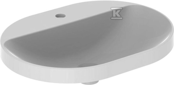 Umywalka VariForm wpuszczana w blat, eliptyczna, 60 cm, z otworem na baterię, bez przelewu