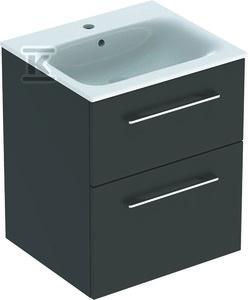 NOVA PRO PREMIUM Zestaw umywalka z niskim rantem 55 cm + szafka 2 szuflady, kolor lava mat