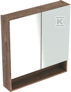 NOVA PRO PREMIUM Szafka z lustrem 60 cm, 1 drzwi kolor orzech włoski