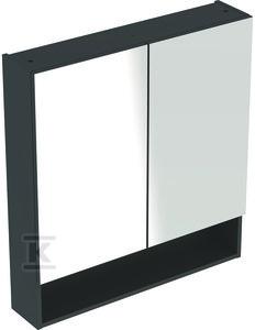 NOVA PRO PREMIUM Szafka z lustrem 80 cm, 2 drzwi, kolor lava mat
