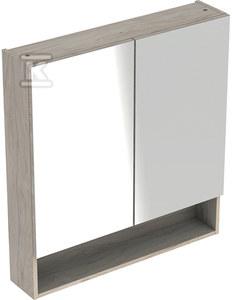 NOVA PRO PREMIUM Szafka z lustrem 80 cm, 2 drzwi, kolor orzech włoski jasny