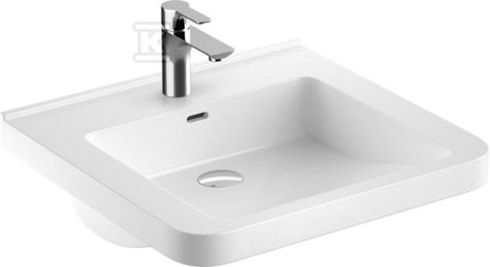 NOVA PRO PREMIUM BEZ BARIER umywalka dla osób niepełnosprawnych 55x52,5 z otworem, z przelewem