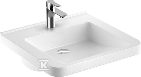 NOVA PRO PREMIUM BEZ BARIER umywalka dla osób niepełnosprawnych 55x52,5 z otworem, bez przelewu