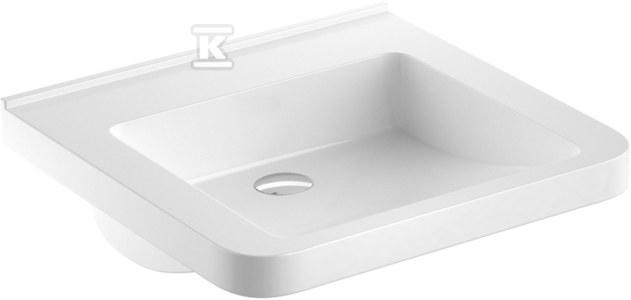 NOVA PRO PREMIUM BEZ BARIER umywalka dla osób niepełnosprawnych 55x52,5 bez otworu, bez przelewu