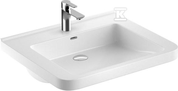 NOVA PRO PREMIUM BEZ BARIER umywalka dla osób niepełnosprawnych 65x52,5 z otworem, z przelewem