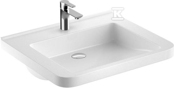 NOVA PRO PREMIUM BEZ BARIER umywalka dla osób niepełnosprawnych 65x52,5 z otworem, bez przelewu