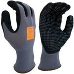 Rękawice robocze super chwytność- spód wykropkowany poliuretan roz.10