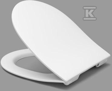 Samar Slim deska WC do ROCA Meridian,KOŁO NovaPro owal, wolnoopadająca, wypinana, z duroplastu, zawias C4501H