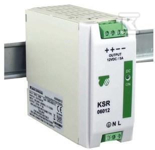 Zasilacz impulsowy KSR 12012 230/ 12VDC 10,0A na szynę DIN TH-35 stabilizowany z zabezpieczeniem