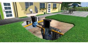 Pakiet (zbiornik podziemny+wyposażenie) na deszczówkę TWINBLOC HAUSTECHNIK II 7000L (2x3500L) bez centrali deszczowej