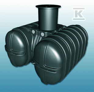 Zbiornik PEHD podziemny na deszczówkę TWINBLOC 5000L z filtrem koszowym