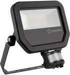 Naświetlacz FLOOD LED PFM 20W/3000K SYM 100 S czarny 2200lm LEDV z czujnikiem ruchu