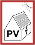 "Tablica samoprzylepna 74x105 ""PV"" NI3-PV"