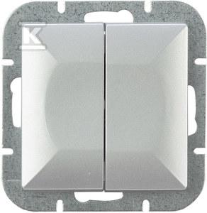 Wyłącznik świecznik z podświetleniem moduł, srebro PERŁA