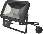 Naswietlacz LED z czujnikiem ruchu, napięcie zasilania: ~200-240V 50/60Hz, moc: 20W, strumień świetlny: 1600 lm, temperatura barwowa LED: 4000K