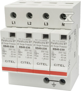 Ogranicznik przepięć typ 2 (C) 80/160KA 4P DS44-230