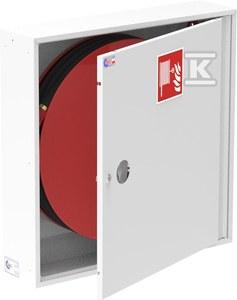 Hydrant wewnętrzny natynkowy SLIM GREEN RAL 9010, zamek patentowy, drzwi pełne 780x780x180mm, kolor biały