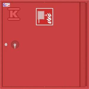 Hydrant wewnętrzny natynkowy SLIM GREEN RAL 3000, zamek patentowy, drzwi pełne 780x780x180mm, kolor czerwony