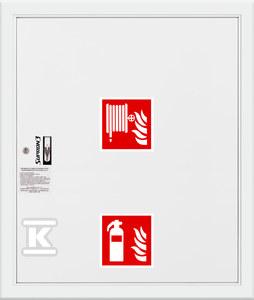 Hydrant DN25 FIT wnękowy z miejscem na gaśnicę pod zwijadłem, wąż 30m, zamek patent, RAL 9003