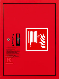 Hydrant DN52 zawieszany z kołyską, wąż 20, zamek patent, RAL 3000