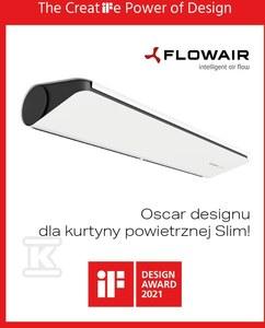 Kurtyna drzwiowa wodna SLIM W-200 biała (RAL9003) 2,0 m 3,7-29,3kW