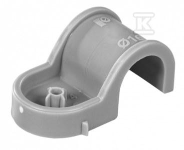 Pojedynczy plastikowy uchwyt do rur, rurek instalacyjnych i kabli - średnica 18-19mm (80szt w opk)