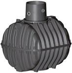 Szambo szczelne PP CARAT 6500L z nadbudową max DN160, bez pokrywy