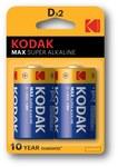 Bateria alkaliczna KODAK MAX KD-2 (LR20), blister=2 szt