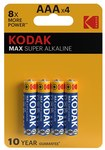 Bateria alkaliczna KODAK MAX K3A-4 (LR3), blister=4 szt