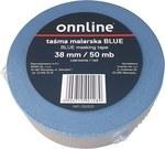 Taśma malarska BLUE 38mm/50mb ONNLINE