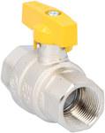 """Zawór kulowy do gazu niklowany z motylkiem aluminiowym (MAI) ORION (wersja N-N) 3/4"""""""
