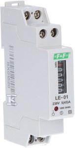 Licznik energii elektrycznej LE-01 - jednofazowy, bębnowy, kl.1, 5(45)A
