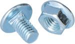 Śruba z łbem grzybkowym + nakrętka ząbkowana SGKM6x10 E90 /100opk/