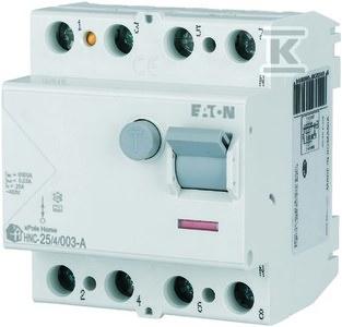 Wyłącznik różnicowoprądowy 6kA typ A HNC-25/4/003-A