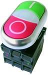 Napęd M22-DDL-GR-X1/X0/K11/230-W przycisk z samopowrotem płaski 1Z1R