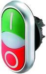 Napęd M22-DDL-GR-X1/X0 przycisk podwójny z samopowrotem podświetlany