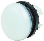 Lampka M22-L-W główka płaska biała