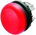 Lampka M22-L-R główka płaska czerwona