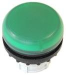 Lampka M22-L-G główka płaska zielona