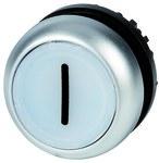 Napęd M22-DL-W-X1 przycisk podświetlany płaski biały z samopowrotem